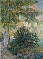 Camille Monet in the Garden at Argenteuil by Claude Monet
