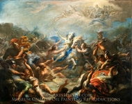Camillia at War from Virgil's Aeneid painting reproduction, Giacomo Del Po
