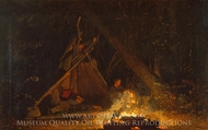 Camp Fire painting reproduction, Winslow Homer