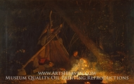 Camp Fire by Winslow Homer