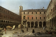 Campo di Rialto painting reproduction, Canaletto