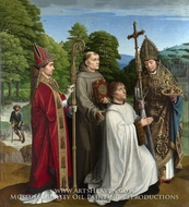 Canon Bernardijn Salviati and Three Saints by Gerard David