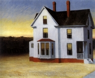 Cape Cod Sunset painting reproduction, Edward Hopper