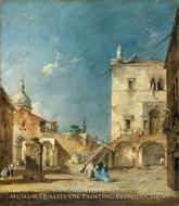 Capriccio painting reproduction, Francesco Guardi