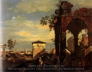 Capriccio: Ruins with Paduan Reminiscences painting reproduction, Canaletto