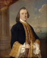 Captain John Reynolds painting reproduction, Jeremiah Theus