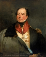 Captain Sir Christopher Cole painting reproduction, Margaret Sarah Carpenter