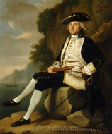 Captain Sir Edward Vernon painting reproduction, Francis Hayman