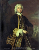 Captain William Gordon painting reproduction, Joseph Highmore