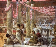 Caracalla and Geta painting reproduction, Sir Lawrence Alma-Tadema