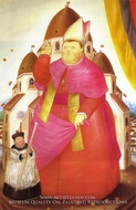 Cardinal painting reproduction, Fernando Botero