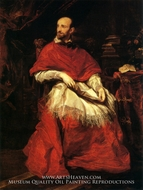 Cardinal Bentivoglio painting reproduction, Sir Anthony Van Dyck