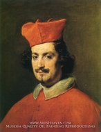Cardinal Camillo Astalli painting reproduction, Diego Velazquez