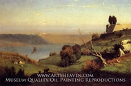 Castel Gandolfo painting reproduction, George Inness