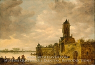 Castle by a River by Jan Van Goyen