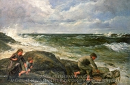 Catching a Mermaid painting reproduction, James Clark Hook