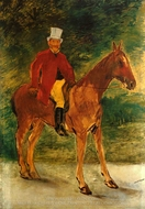 Cavalier (Equestrian Portrait of Mr. Arnaud) painting reproduction, Edouard Manet