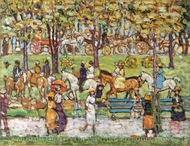 Central Park painting reproduction, Maurice Prendergast