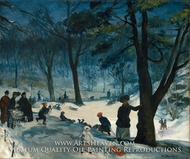 Central Park, Winter by William James Glackens