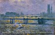 Charing Cross Bridge, Reflections on the Thames by Claude Monet