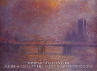Charing Cross Bridge, the Thames by Claude Monet