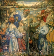 Charity painting reproduction, Frank William Brangwyn