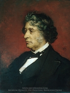 Charles Sumner painting reproduction, William Morris Hunt