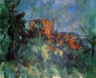 Chateau Noir painting reproduction, Paul Cezanne