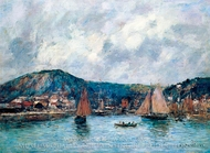 Cherbourg, the Port painting reproduction, Eugene-Louis Boudin