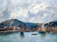 Cherbourg, the Port by Eugene-Louis Boudin