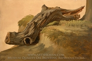 Chestnut Limb, Ischia painting reproduction, Simon Denis