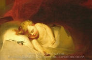 Child Asleep (The Rosebud) painting reproduction, Thomas Sully