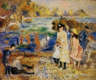 Children by the Sea in Guernsey painting reproduction, Pierre-Auguste Renoir