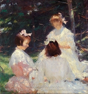 Children in Woods by Frank Weston Benson