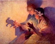 Chinese Shadows, the Rabbit painting reproduction, Ferdinand Du Puigaudeau