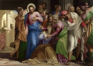 Christ Addressing a Kneeling Woman painting reproduction, Paolo Veronese