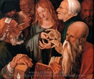 Christ among the Doctors painting reproduction, Albrecht Durer