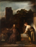 Christ and the Woman of Samaria painting reproduction, Rembrandt Van Rijn