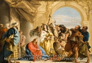 Christ and the Woman taken in Adultery painting reproduction, Giovanni Domenico Tiepolo