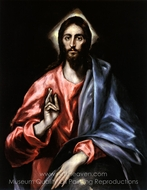 Christ as Saviour painting reproduction, El Greco