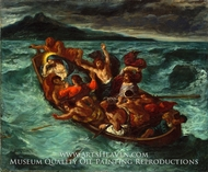 Christ Asleep during the Tempest by Eugene Delacroix