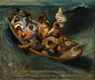 Christ Asleep during the Tempest painting reproduction, Eugene Delacroix