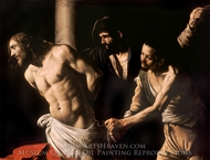 Christ at the Column painting reproduction, Caravaggio