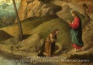 Christ Blessing Saint John the Baptist painting reproduction, Moretto Da Brescia