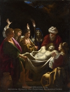 Christ Carried to the Tomb painting reproduction, Sisto Badalocchio