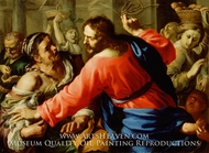 Christ Cleansing the Temple painting reproduction, Bernardino Mei