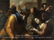 Christ Disputing with the Doctors painting reproduction, Gregorio Preti