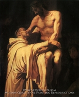 Christ Embracing Saint Bernard by Francisco Ribalta