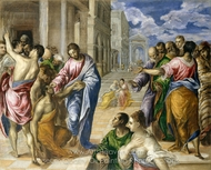 Christ Healing the Blind painting reproduction, El Greco