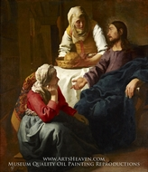 Christ in the House of Mary and Martha by Jan Vermeer